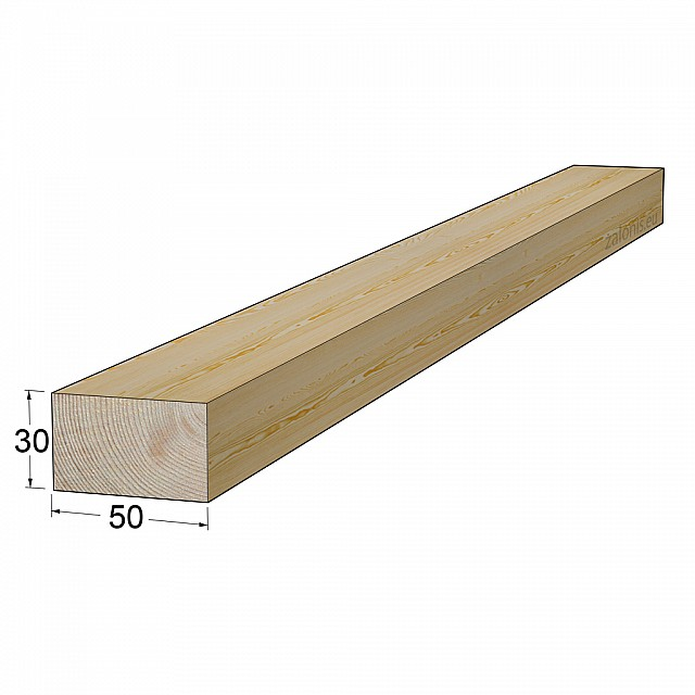 TIMBER SQUARE BEAM 30x50 mm / PINE